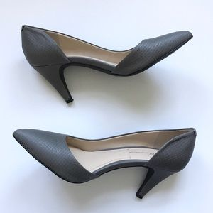 BCBGeneration Gray Faux Leather Heels - 6.5